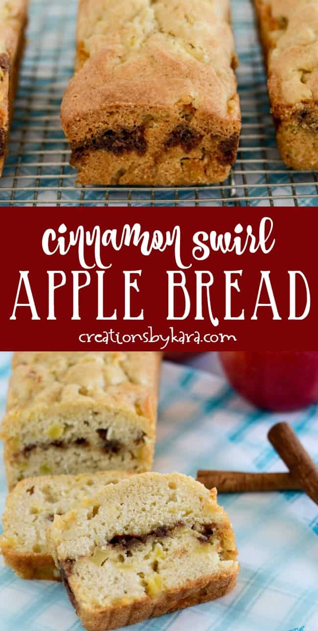 Cinnamon Swirl Apple Bread collage