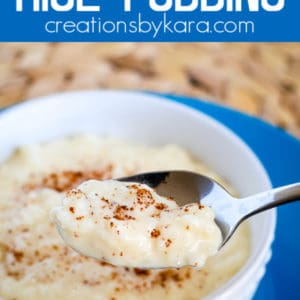 stovetop creamy rice pudding