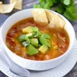 recipe for instant pot chicken tortilla soup