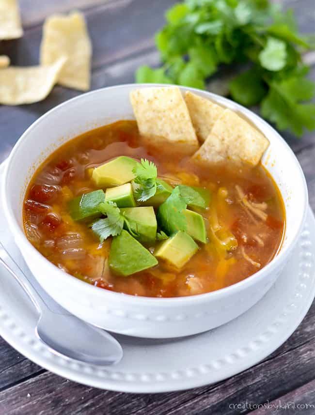 recipe for instant pot chicken tortilla soup