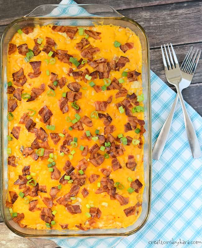 breakfast casserole with bacon