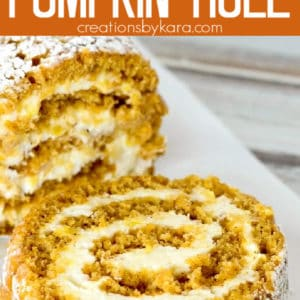 pumpkin roll with cream cheese filling pinterest pin