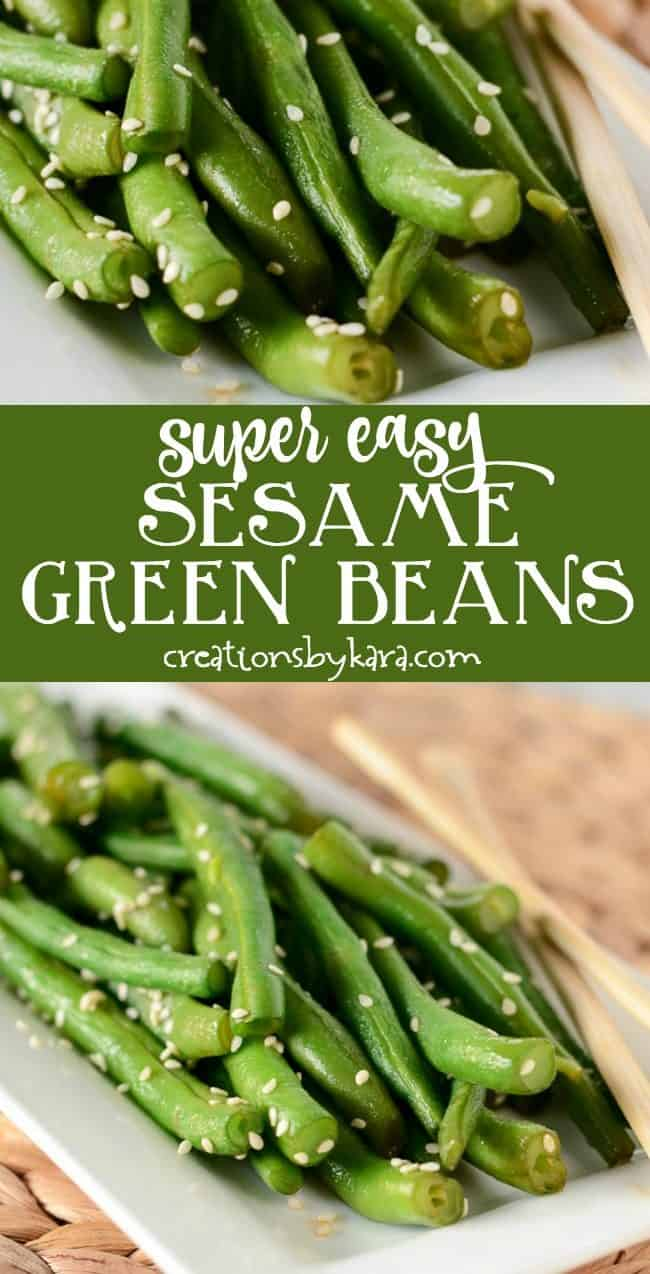 easy green beans recipe collage