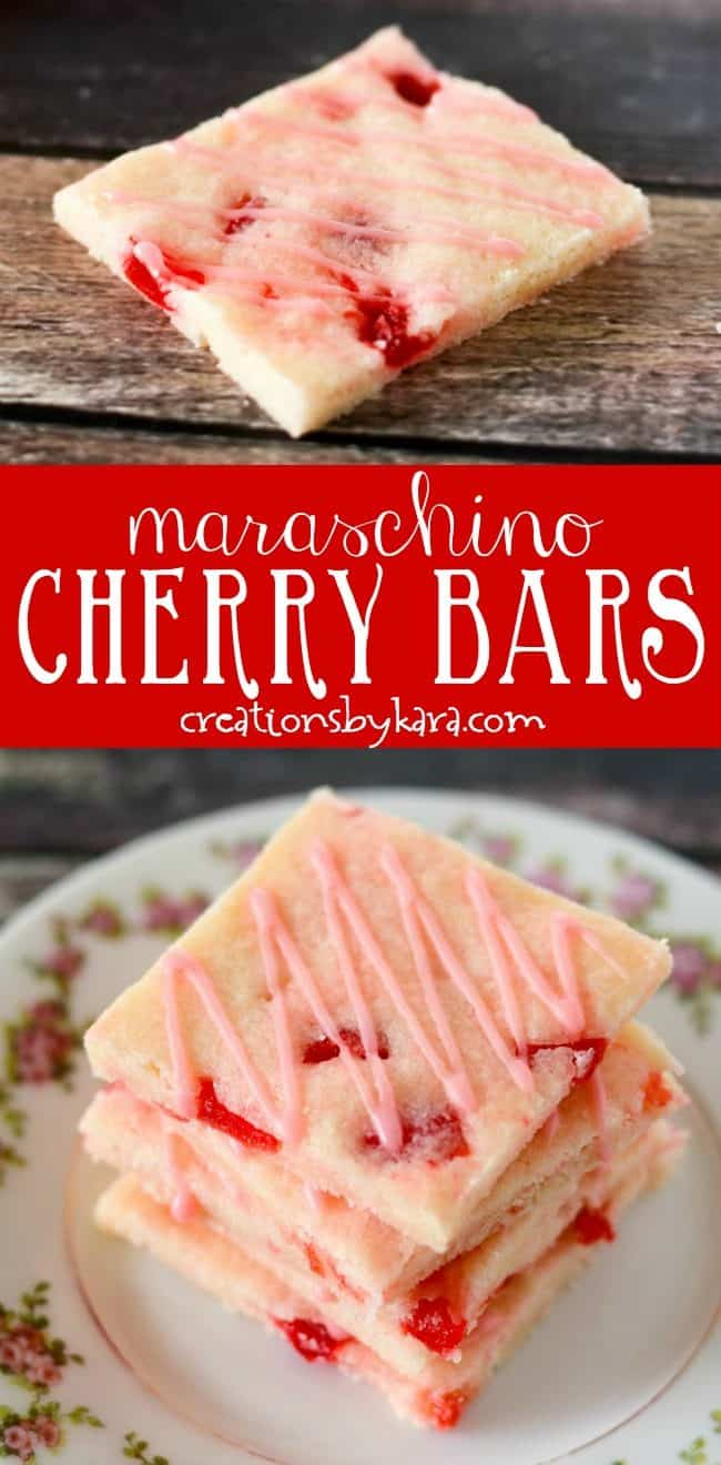 maraschino cherry bars recipe collage