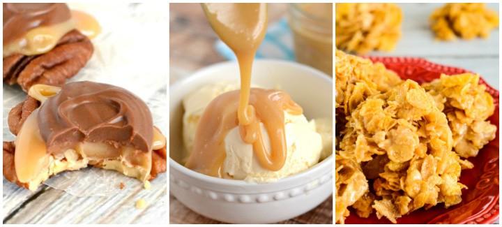 caramel recipes collage
