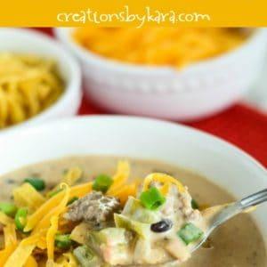 recipe for loaded nacho soup