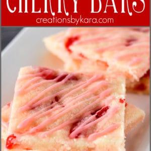 maraschino cherry bars pinterest collage