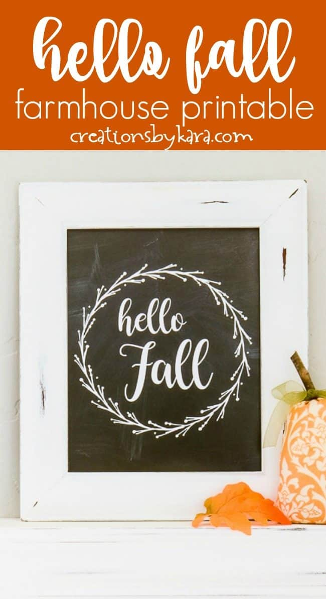 hello fall farmhouse printable collage