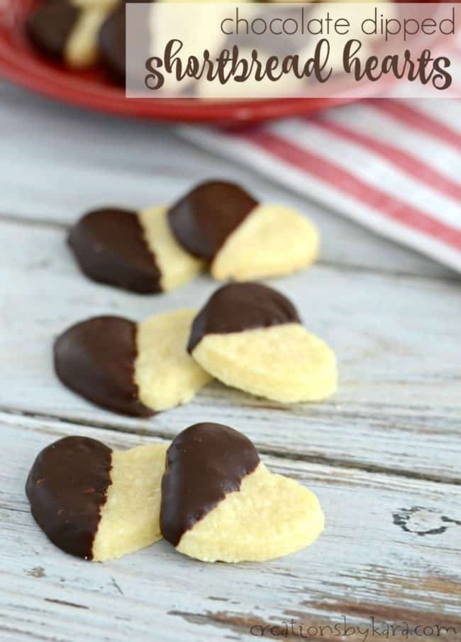 chocolate dipped shortbread hearts title photo