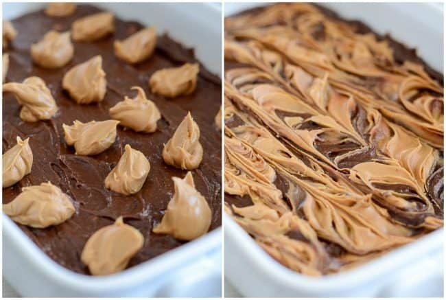 how to make peanut butter swirl brownies