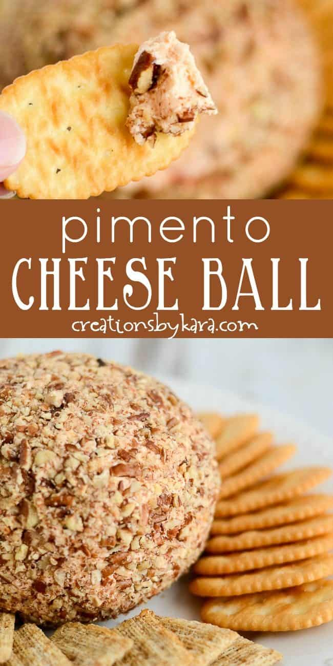 pimento cheese ball recipe collage
