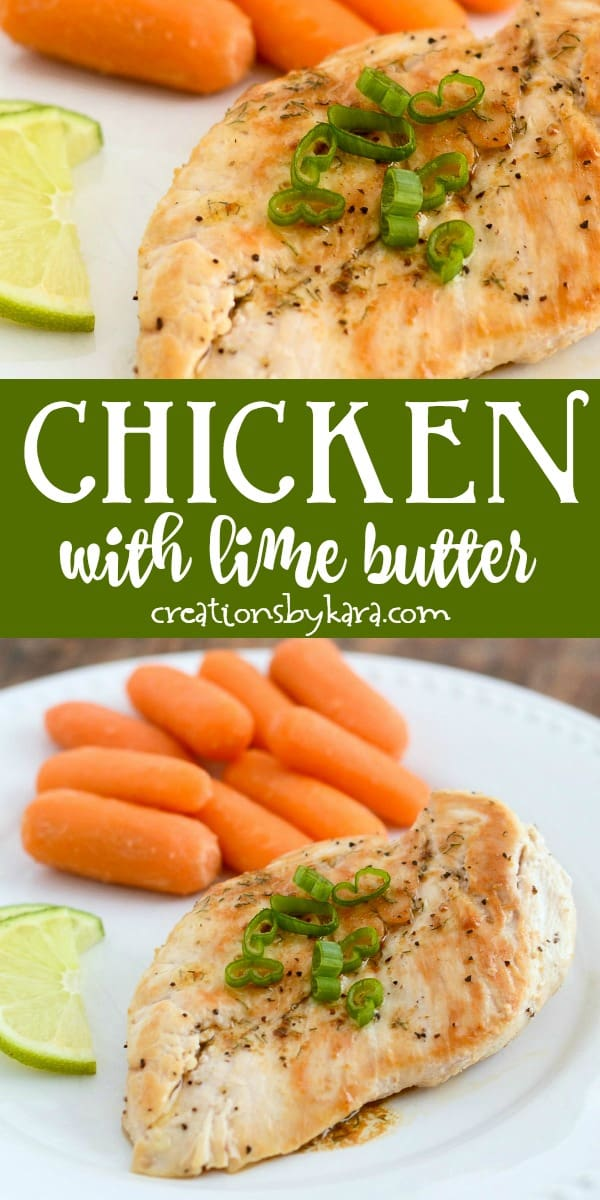 chicken with lime butter recipe collage