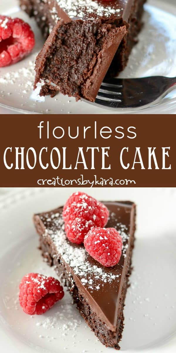 flourless chocolate cake with ganache recipe collage