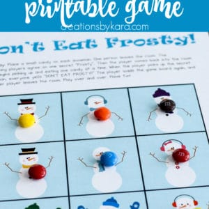 snowman don't eat pete game printable