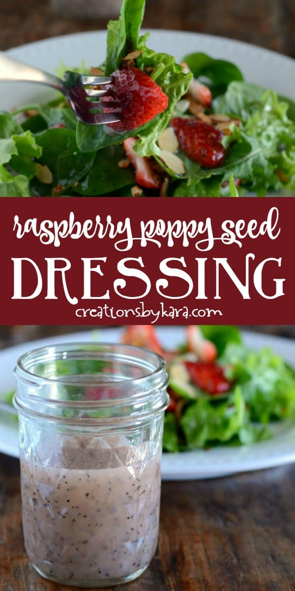 raspberry poppy seed dressing recipe collage