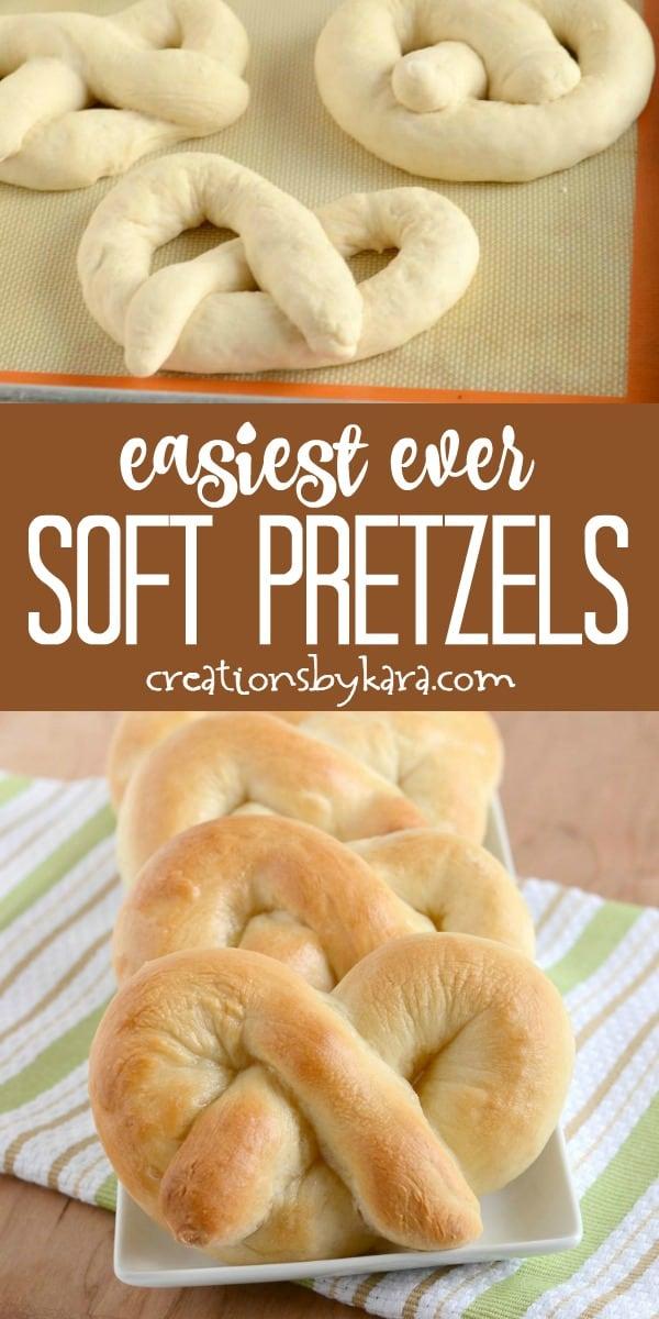 easiest ever soft pretzels recipe collage