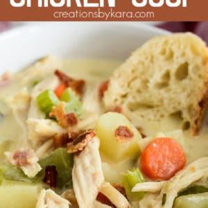 creamy chicken soup with bacon