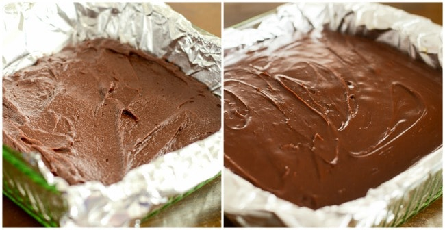 instructions for making nutella fudge brownies