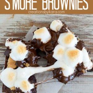 s'mores brownies recipe pinterest pin