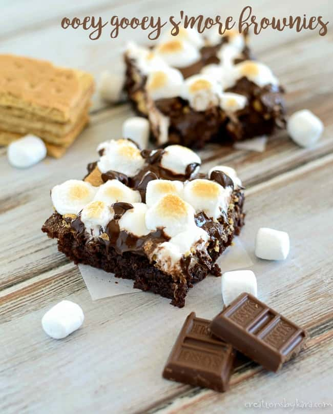 s'mores brownies title photo