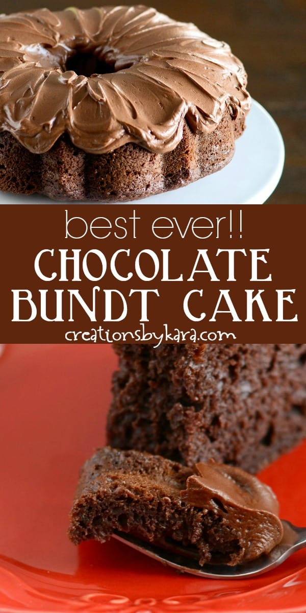 best ever chocolate bundt cake recipe collage