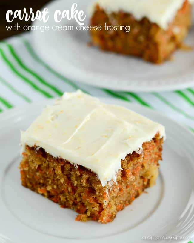 carrot cake with orange cream cheese frosting title photo