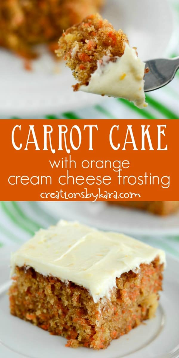 carrot cake with orange cream cheese frosting recipe collage