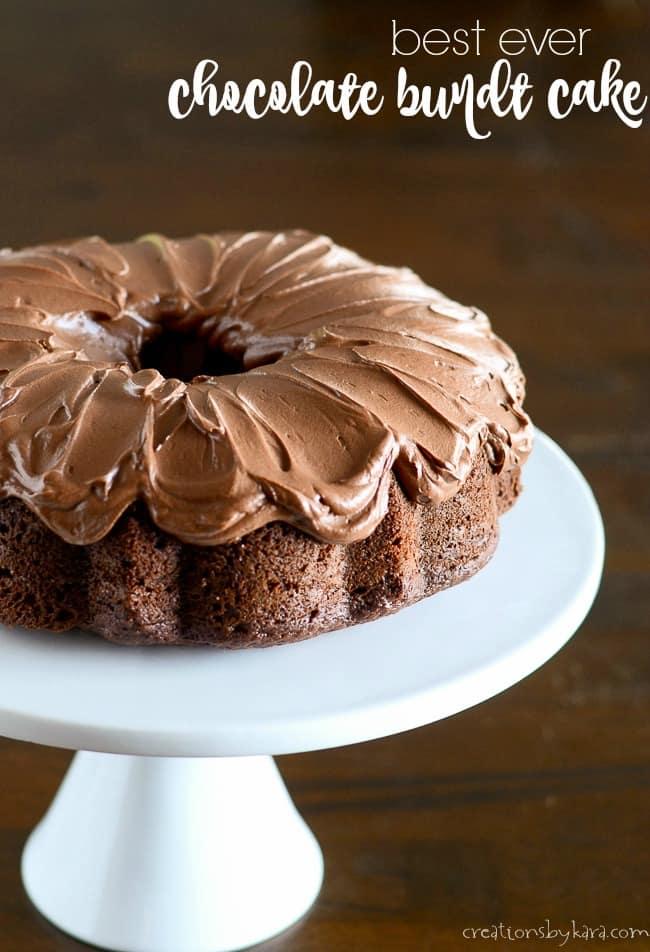 best ever chocolate bundt cake recipe