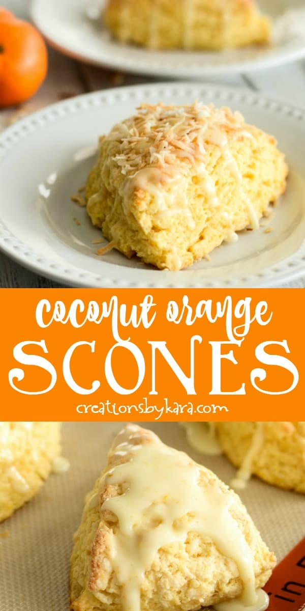 orange coconut scones recipe collage