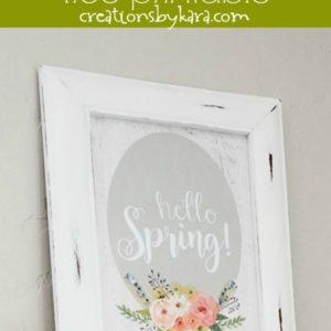 farmhouse spring sign collage