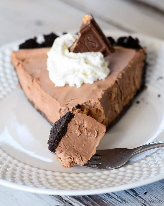 bite of symphony pie on a fork