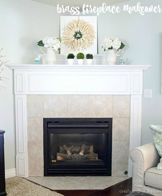 Fireplace Makeover Spray Paint Magic