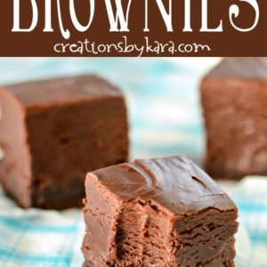 brownies topped with nutella fudge