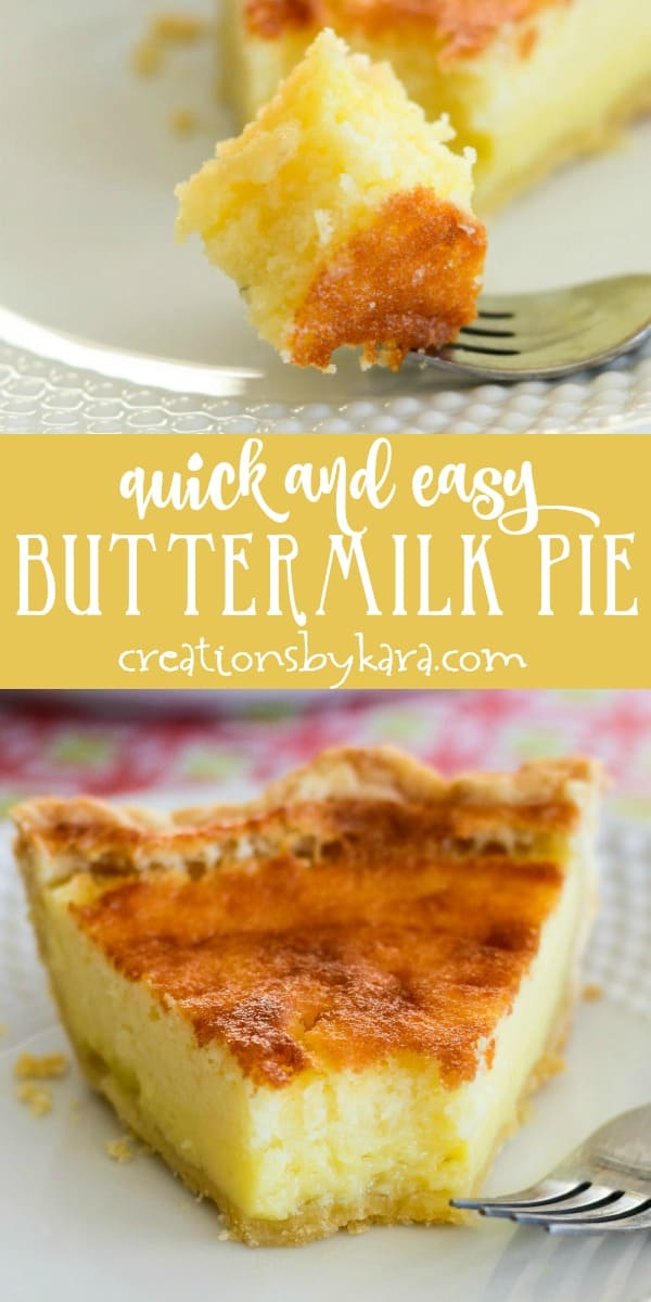 easy buttermilk pie recipe collage