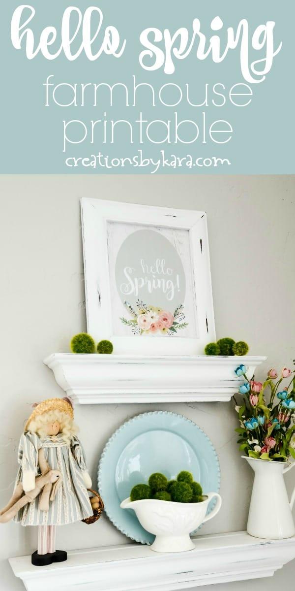 hello spring farmhouse sign collage