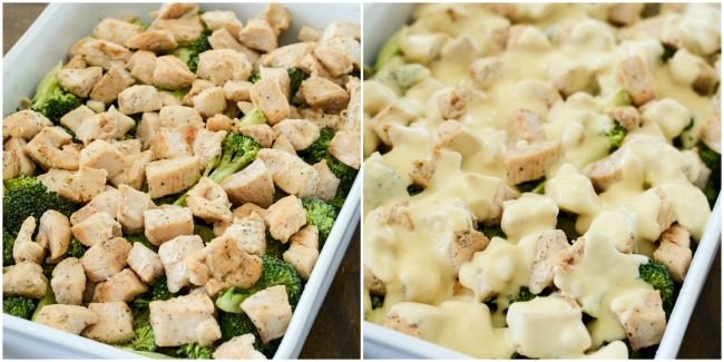 tips for assembling broccoli chicken casserole