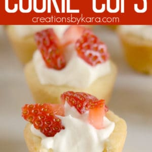mini strawberry cheesecake cookie cups pinterest pins