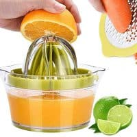 Citrus Juicer Manual Hand Squeezer with Built-in Measuring Cup