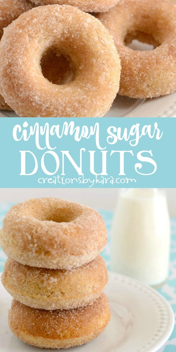 baked cinnamon sugar donuts recipe collage