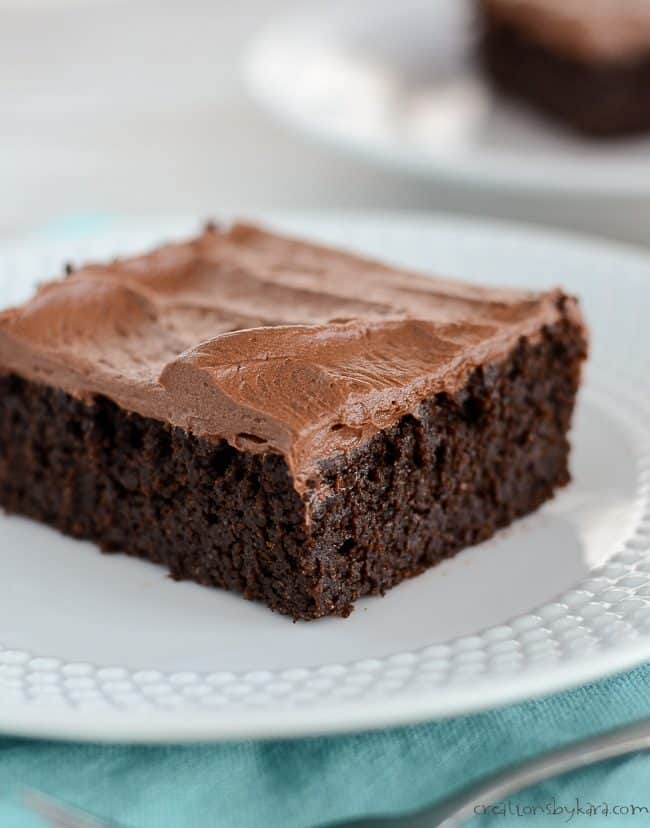 chocolate quinoa cake with chocolate frosting