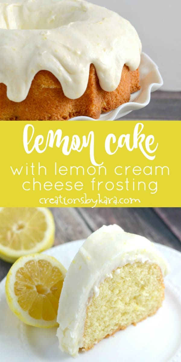 lemon bundt cake with lemon cream cheese frosting recipe collage