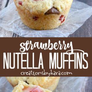 strawberry nutella muffins photo collage