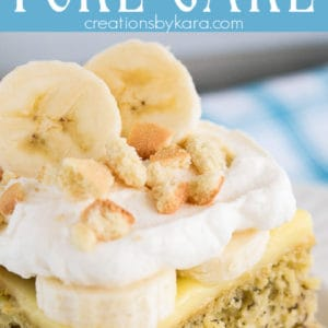 banana cream poke cake recipe pinterest pin