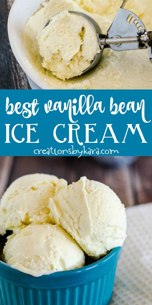 best french vanilla ice cream recipe collage