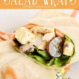 curry chicken salad wraps pinterest pin