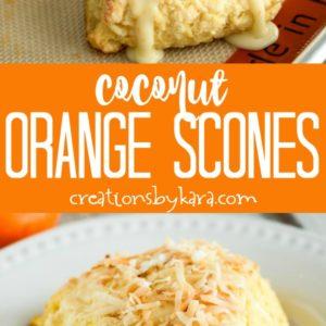 coconut orange scones collage