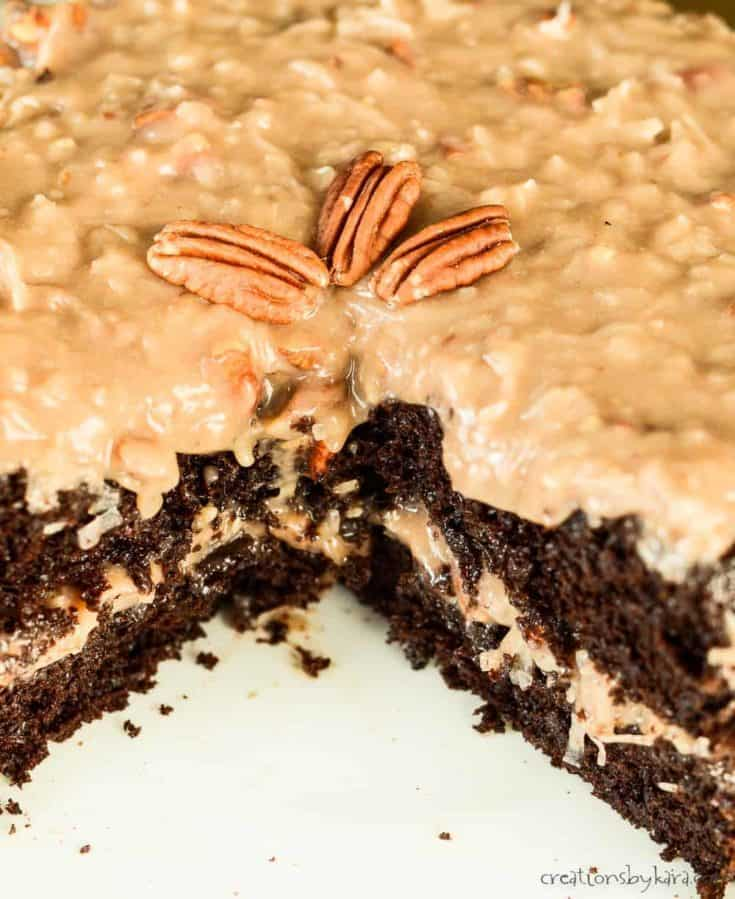 Homemade German Chocolate Cake Recipe