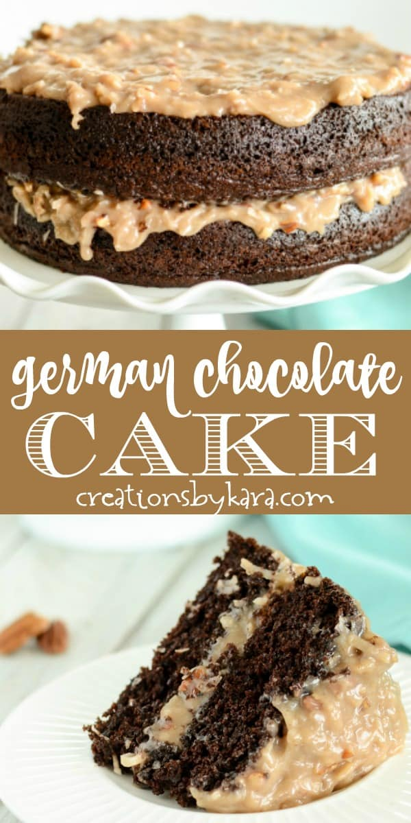 german chocolate cake with german chocolate frosting recipe collage