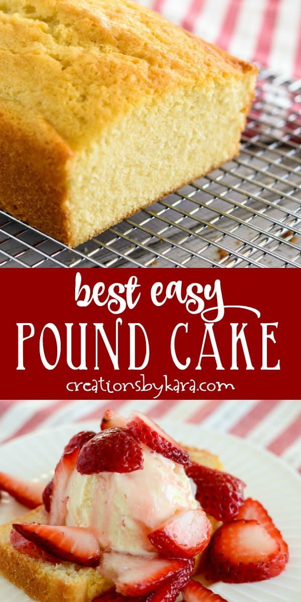 best easy pound cake recipe collage