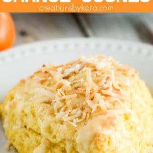 coconut orange scones recipe pinterest pin